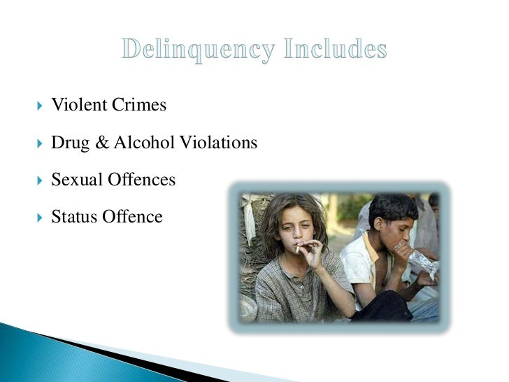 causes of juvenile delinquency pdf